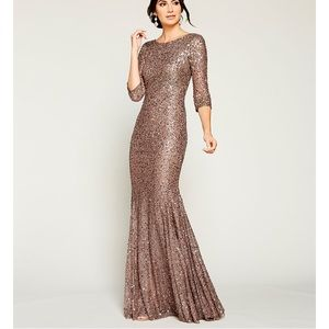 EUC Adrianna Papell Sequin Mermaid Gown